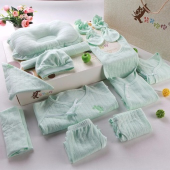 Newborn Clothes Gift box.18pcs Cotton sets, Jacket, Pants, Socks, Hats, Pillows, Towels slobber, Stomachers - intl - 2