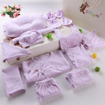 Newborn Clothes Gift box.18pcs Cotton sets, Jacket, Pants, Socks, Hats, Pillows, Towels slobber, Stomachers - intl