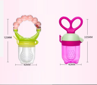 Newborn Fresh Fruits Vegetables Food Feeder Silicone Teat Food Supplement Prop Training Device Molar Rod Solid Feeding Utensils Pacifiers Baby Teethers with Bells (Small) - intl - 4