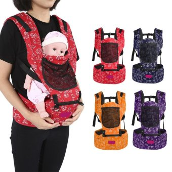 Newborn Infant Baby Carrier Hip Seat Breathable Adjustable WrapSling Backpack (Purple) - intl