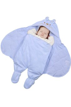 Newborn Infant Baby Printing Sleeping Bag Blanket Swaddles CarrierStroller Wrap (Blue)