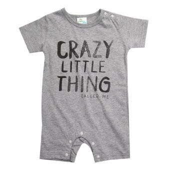 Newborn Kids Baby Boy Girl Infant Cotton Romper Jumpsuit BodysuitClothes Outfit Grey - intl