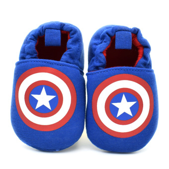 Newborn Toddler Baby Boys Girls Soft Skidproof Prewalkers Slippers Shoes 0-18 months Captain America