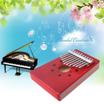 niceEshop 10 Key Finger Piano Kalimba Mbira Likembe Sanza ThumbPiano (Red) - intl