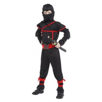 Ninja Costumes for kids Classic Halloween Costumes Cosplay Without weapon - intl