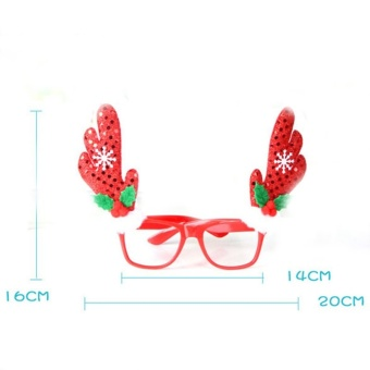 Novelty Fancy Dress Christmas Glasses Frame Xmas Decoration B4 - intl - picture 2