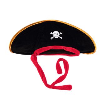 OH Pirate Captain Hat Skull Crossbone Cap Costume Fancy Dress Party Halloween
