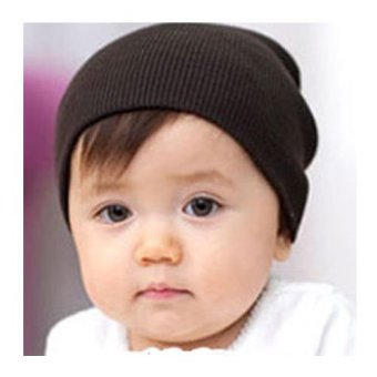 Okdeals Unisex Infant Baby Boy/Girl Soft Cotton Beanie Hat Knitted Kid Winter Warm Cap Coffee - intl