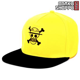 One Piece Anime Unisex Fashionable Snapback Cosplay Cap(Yellow/Black)