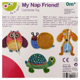 Oops Comforter Toy-Happy (Orange/Blue) - picture 4