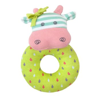 Organic Farm Buddies Belle the Cow Rattle Multicolor