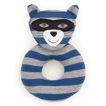 Organic Farm Buddies Robbie Racoon Rattle Blue