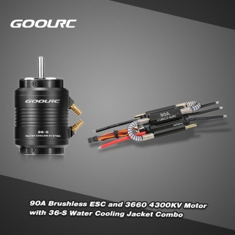 Original GoolRC 90A Brushless ESC and 3660 4300KV Motor with 36-S Water Cooling Jacket Combo for 800-1000mm RC Boat - intl