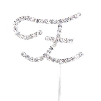 Outstanding Diamante Letter Z Monogram Cake Toppers for Wedding Birthday (Intl) - picture 2