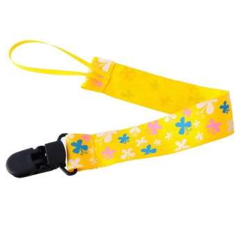 Pacifier Clip With Butterfly Pattern