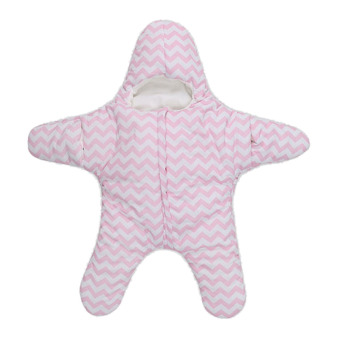 PAlight Cute Starfish Baby Sleeping Bag Baby Blanket Swaddle (Pink)