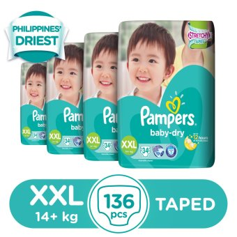 Pampers Baby Dry Diaper XXL 34s - 4 Packs