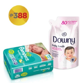 Pampers Baby Dry Taped Diaper NB 40's with Downy Baby Gentle 800ml Price Philippines