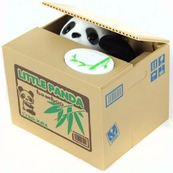 Panda Stealing Coins Collection Money Bank Little Storage Saving Box - intl