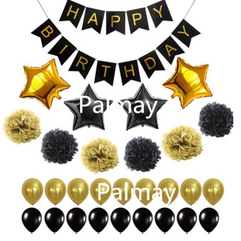 Paper Birthday Party banner card