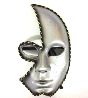 Partyline Half Face Costume Party Masquerade Mask (Black)