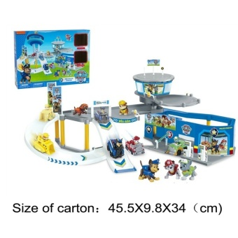 Paw patrol dog command center scene slide rail + Randomly chosen2pcs car toy gift for children. - Intl