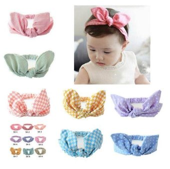 PENI New Korean Baby Little Bit Of Rabbit Hairband Baby SuperElastic Cute Comfortable Rabbit Ears Headband Children - intl Price Philippines