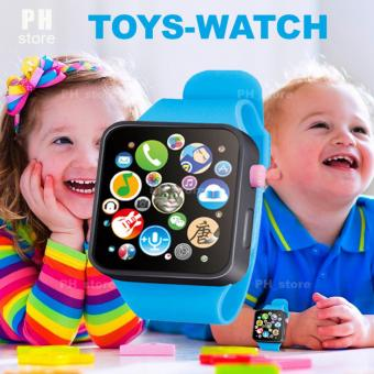 PH_store Kids Children Early Learning Machines Touch Screen SmartWatch Toys (blue)