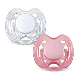 Philips AVENT Freeflow Pacifier BPA Free Pink / White 0-6 Months(Pack of 2)