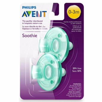 Philips Avent - Soothie Pacifier, Green, 0-3 Months, Pack of 2