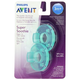 Philips Avent Super Soothie 3m+ 2-piece Set (Aqua Green)