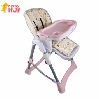 Phoenixhub High quality Adjustable feeding baby high chair withremovable tray PINK