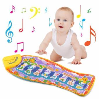 Piano Music Fish Animal Mat Touch Kick Play Fun Toy For Baby Child Kid Gift - intl