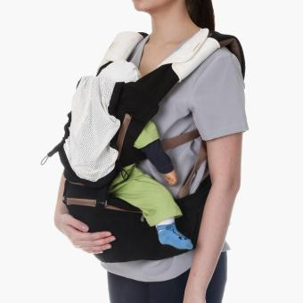 Picolo 5-in-1 Soft Carrier with Hip Seat (Black)