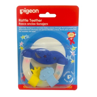 Pigeon N-664 Rattle Teether (Night and Day)