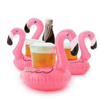 Polestar Flamingo Drink Holder Inflatable Floater Set of 4 - 4