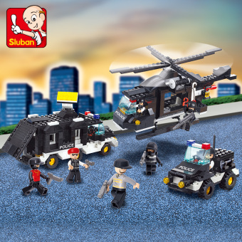 Police Riot SWAT model small Luban building blocks