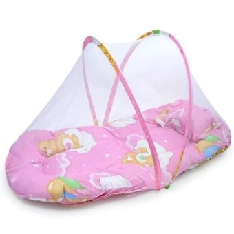 Portable Baby Bed Crib Folding Mosquito Net (PINK)