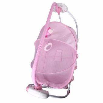 Primi Pretty in Pink Soothing Motions Baby Cradle Swing - 3
