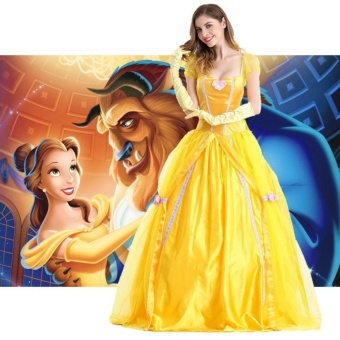 Princess Dress Adult Women Beauty and The Beast Belle MasqueradeCostumes Halloween Clothing Size XL - intl Price Philippines
