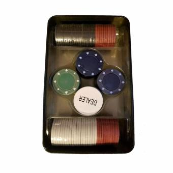 Professional Poker Chips Ctn # 12 (100 Pcs. Chips) in Tin Case - 2