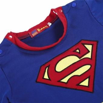 Promotion Sunwonder Superman Suit Fancy Dress SuperHero Costume Jumpsuit for Baby Toddler Kid Boy Romper Gift - intl - 3