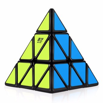 Qiyi Qiming A Pyraminx Speed Cube Triangle Magic Rubik's Cube Black
