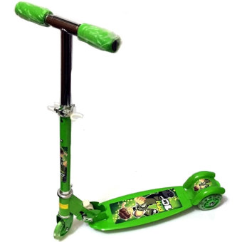 Quality Ride-On Push Scooter for Kids with Laser Wheel (Green)