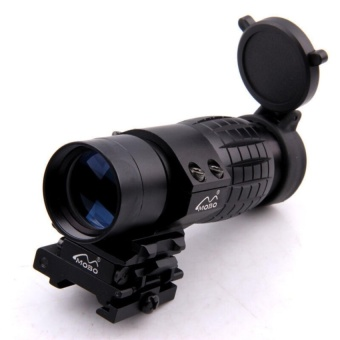 Quick Detachable Tactical 3X FTS Magnifier Scope & Flip to SideMount 20mm Rail - intl
