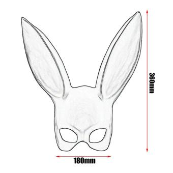 Rabbit Ear Mask Costume Cute Fashion for Halloween Party - 5