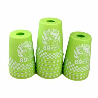 Rapid Cup Speed Training Sports 12 Pcs 89 Moto Stacking Cups(Green) - 2