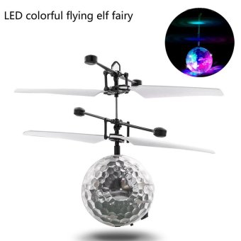 RC Flying Ball Drone Helicopter Ball Built-in Shinning LED Lightingfor Kids Toy Multicolor - intl Price Philippines