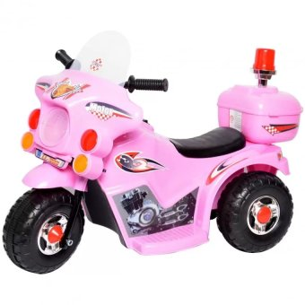 Rechargeable electric three-wheeled motorcycle children ride-ontoys(Pink)