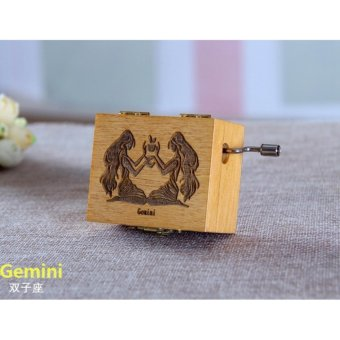 Retro 12 Constellations Manual Music Boxes Romantic Birthday Gifts(Gemini) - intl Price Philippines